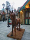 Резной конь. | Фестивальная площадка на Святоозерской улице. Москва, Косино-Ухтомское.
