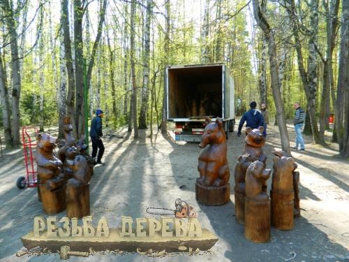 Парковая скульптура - доставка и разгрузка