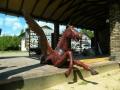 Пегас вырезан из дерева | Садовая деревянная скульптура
