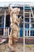 Скульптура из дерева - Баба Яга | Резьба бензопилой - Скульптура из дерева