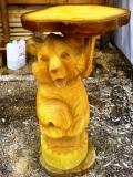 Мебель для дачи - столик с медведем из дерева | Мебель для парка, дачи и сада из дерева