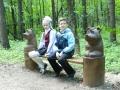 Скамеечка из дерева в парке Лосиный Остров | Парк «Лосиный остров»