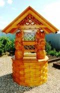 Необычный домик для колодца с медведями | Домик для колодца