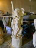 деревянная садовая скульптура лесовичок | Садовая деревянная скульптура