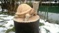деревянная садовая скульптура черепаха | Садовая деревянная скульптура