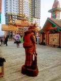 Баба яга скульптура. | Фестивальная площадка на Святоозерской улице. Москва, Косино-Ухтомское.
