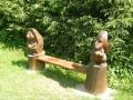Деревянная скамейка в парке | Парк «Лосиный остров»