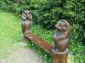 Скамейка со зверушками в парке Лосиный Остров | Парк «Лосиный остров»