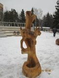 Композиция из дерева в Крюковском лесопарке | Вольерный комплекс в Крюковском лесопарке Зеленограда