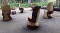 Мощные кресла из цельного бревна | Мебель для парка, дачи и сада из дерева