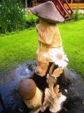 деревянная садовая скульптура старичк лесовичек | Садовая деревянная скульптура