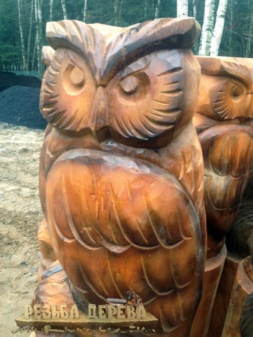 Скульптуры сов для Крюковского лесопарка