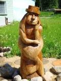 садовая фигура из дерева водяной | Садовая деревянная скульптура