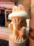 деревянные фигурки животных и птиц лягушка | Садовая деревянная скульптура
