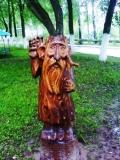 деревянные фигурки леший | Садовая деревянная скульптура