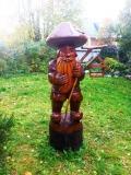 садовая фигура из дерева лесовичек боровичек | Садовая деревянная скульптура