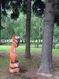 Лиса и ворона из дерева | Детские городки