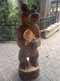Маша и медведь из дерева | Детские городки