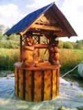 Дворец из дерева на колодец | Колодезный домик