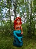 РУСАЛОЧКА - скульптура из дерева | Персонажи сказок и мультиков