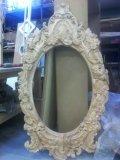 Рама для зеркала, стиль барокко, резьба на чпу станке. | Резные работы из дерева, изготовленные на 3D станке с ЧПУ