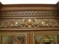 Элемент накладной резьбы с использованием сусального золота, материал орех, стиль барокко | Плоскорельефная резьба