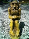 деревянная фигурка домовой | Садовая деревянная скульптура