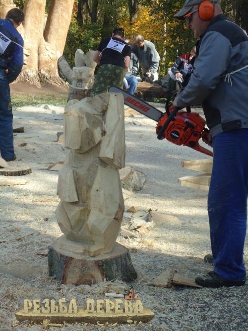 Резьба по дереву бензопилой - участник фестиваля С. Ларионов