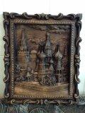 Кремль, Москва, панно, ЧПУ резьба. | Резные работы из дерева, изготовленные на 3D станке с ЧПУ