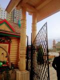 Клеёные резные столбы. | Фестивальная площадка на Святоозерской улице. Москва, Косино-Ухтомское.