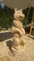Волк из дерева | Детские городки