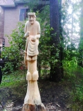 Скульптура на корню дерева 3 | Скульптура на корню