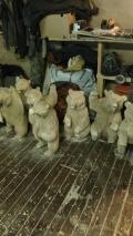 Медвежья шобла в мастерской | Садовая деревянная скульптура