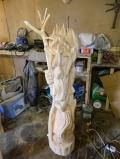 деревянная садовая скульптура леший | Садовая деревянная скульптура