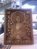 Изображение будды, изготовлено на чпу станке. | Резные работы из дерева, изготовленные на 3D станке с ЧПУ