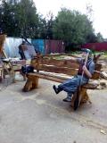 Скамейка с Бабой Ягой | Мебель для парка, дачи и сада из дерева