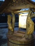 Колодезный домик с подсвеченной иконой | Колодезный домик