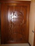 Дверки шкафа, плосковыемчатая резьба. Бук. | Плоскорельефная резьба