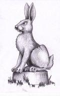 Эскиз зайца для резьбы по дереву | Эскизы и рисунки для резьбы по дереву