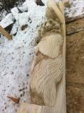 Изготовление опорного столба с резным медведем | Садовая деревянная скульптура
