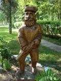 садовая фигурка охотник | Садовая деревянная скульптура
