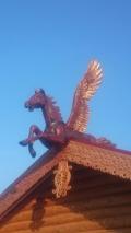 Конёк на крышу в виде Пегаса | Пегас