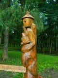 Кормушки для птиц и белок из дерева медведь лезет за медом | Кормушки для птиц