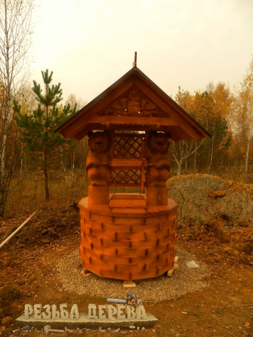 Колодезный домик с медведями