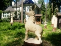 деревянная садовая скульптура конек горбунок | Садовая деревянная скульптура
