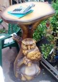 Элегантный деревянный столик | Мебель для парка, дачи и сада из дерева