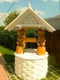 Домик колодца в белом стиле | Колодезный домик
