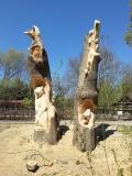 Скульптура. Дерево. | Скульптуры в Пензенском зоопарке