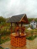Деревянный колодезный домик с совами | Колодезный домик