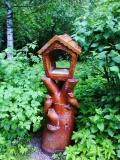 деревянные фигурки животных и птиц кормушка для птиц и белок | Садовая деревянная скульптура